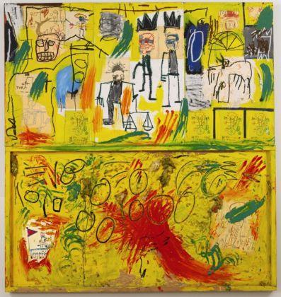 Jean-Michel Basquiat, Untitled. Yellow Tarand Feathers, 1982