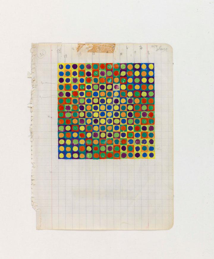 Julio Le Parc, Projet couleur n° 2, 1959 - Courtesy the artist - Julio Le Parc © 2016 Artists Rights Society (ARS), New York : ADAGP, Paris - Photo Georges Poncet