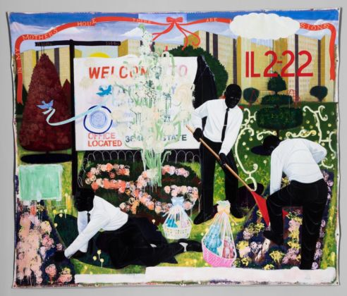 Kerry James Marshall, Many Mansions, 1994 - The Art Institute of Chicago - © Kerry James Marshall - Photo © The Art Institute of Chicago