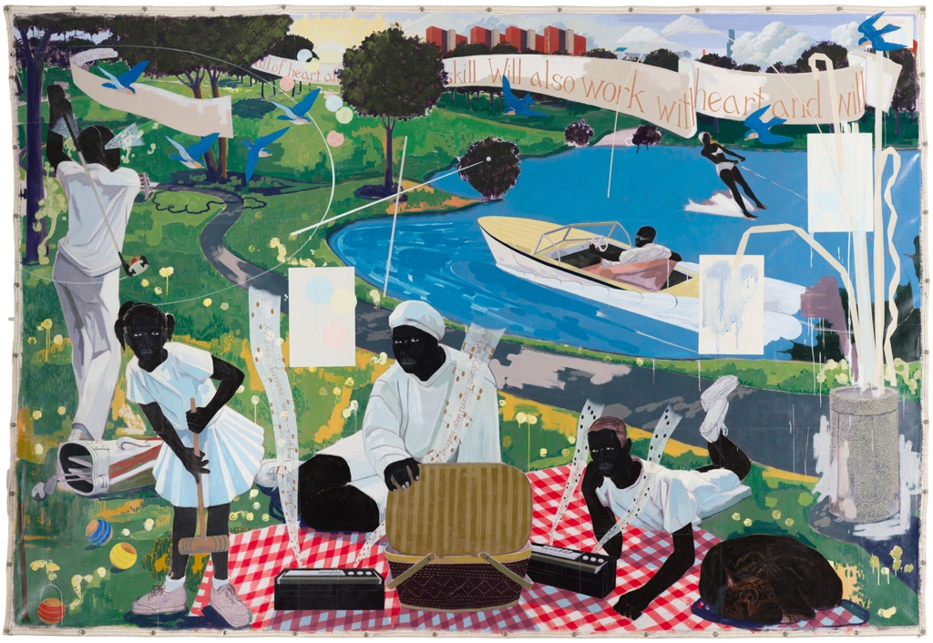 Kerry James Marshall, Past Times, 1997 - Metropolitan Pier and Exhibition Authority, McCormick Place Art Collection, Chicago - © Kerry James Marshall - Photo Nathan Keay, © MCA Chicago