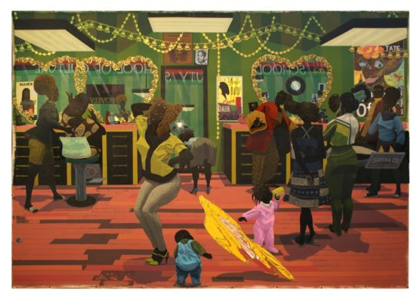 Kerry James Marshall, School of Beauty, School of Culture, 2012 - Birmingham Museum of Art - © Kerry James Marshall - Photo Sean Pathasema