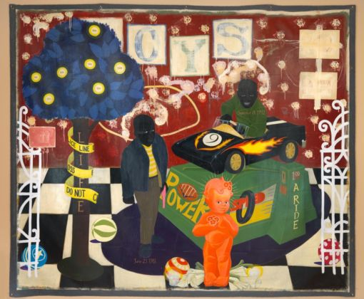 Kerry James Marshall, The Lost Boys, 1993 - Collection of Rick Hunting and Jolanda Hunting - © Kerry James Marshall - Photo Dominique Provost, © MCA Chicago