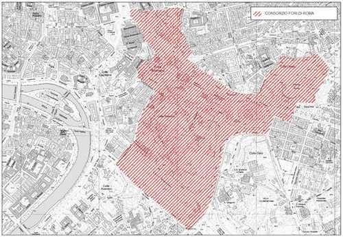 Le aree oggetto dell'Accordo Mibact-Roma Capitale