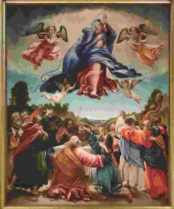 Lorenzo Lotto, Assunzione della Vergine, 1527 - Chiesa di Santa Maria Assunta, Celana