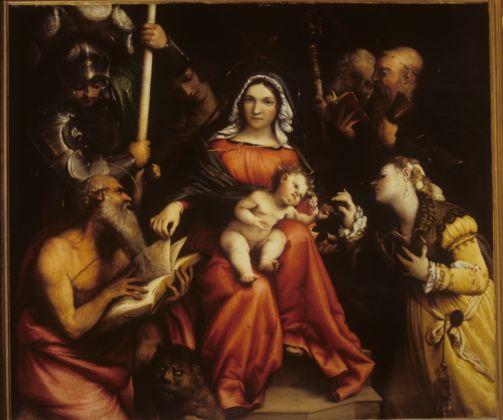 Lorenzo Lotto, Nozze mistiche di Santa Caterina, 1524 - Roma, Gallerie Nazionali d'Arte Antica, Palazzo Barberini