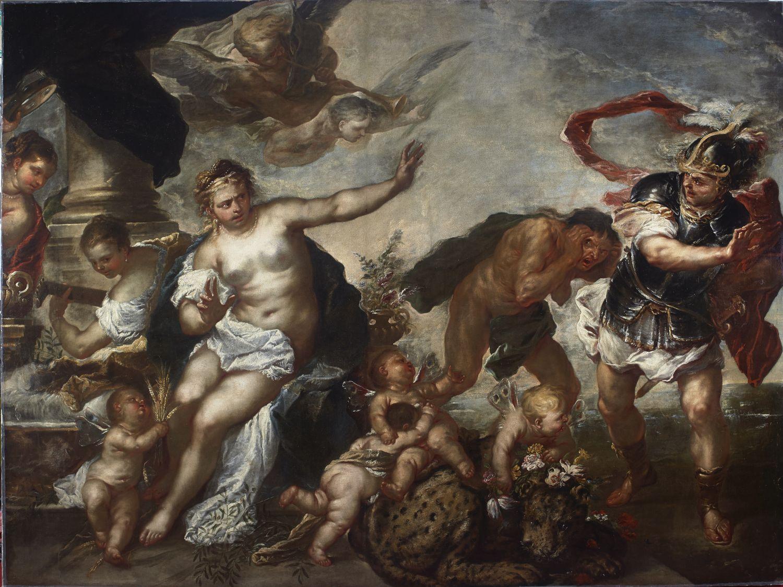 Luca Giordano, Allegoria della Pace e della Guerra, 1680 – olio su tela – Genova, Galleria Nazionale di Palazzo Spinola