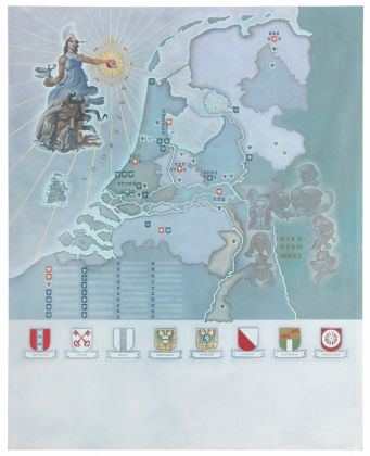 Lucy McKenzie, Map of Holland, 2015, courtesy Galerie Buchholz