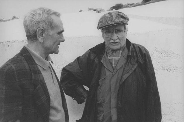 Ludovico Corrao e Alberto Burri in una foto d'archivio