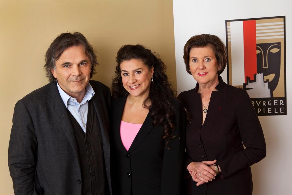 Markus Hinterhäuser, Cecilia Bartoli, Helga Rabl-Stadler - photo © Salzburger Festspiele - Julia Stix