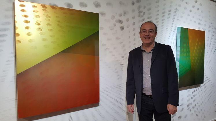 Matteo Negri, PSA, Wall con Alberto Fiz. Galleria ABC Arte, Genova 2017. Photo Linda Kaiser