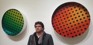Matteo Negri con Kamigami Bubble. Galleria ABC Arte, Genova 2017. Photo Linda Kaiser