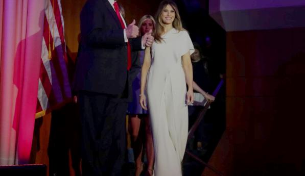 Melania Trump vestita Ralph Lauren