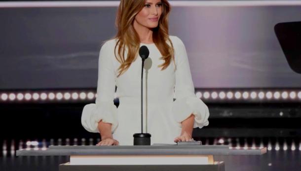 Melania Trump vestita Roksanda Ilincic
