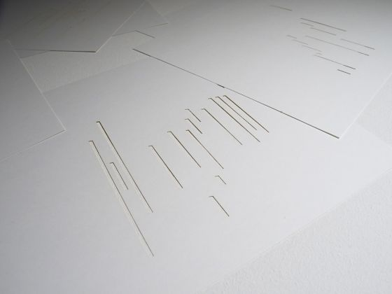 Michalis Pichler. Exposition Littéraire autour de Mallarmé. Exhibition view at Kunstverein, Milano 2017