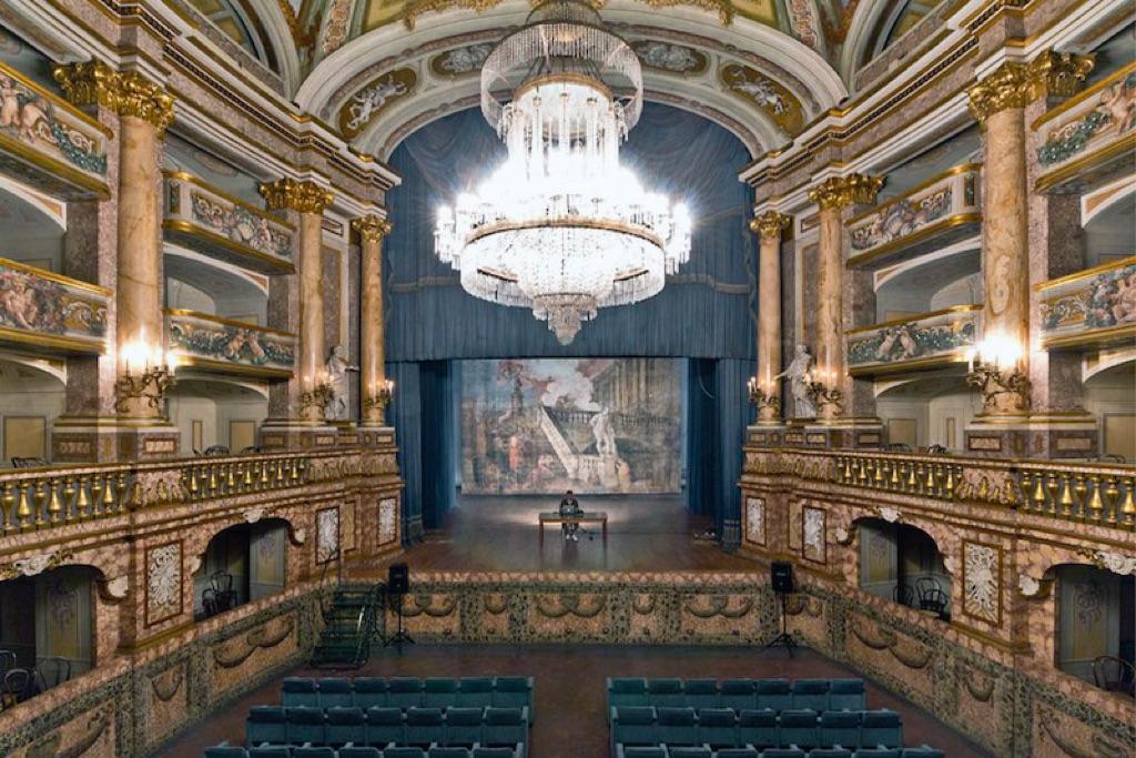 Michele Spanghero, Monologue, 2015. Teatro della Reggia di Caserta
