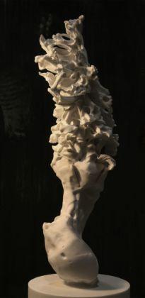 Nicola Samorì, Lucy, 2016 – Gare de l'Est – installation overview at Teatro Anatomico, Palazzo del Bo, Padova 2016 – photo Rolando Paolo Guerzoni