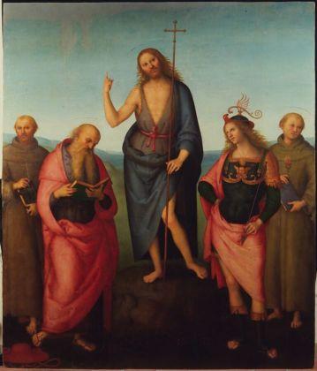 Perugino, San Giovanni Battista e i Santi Francesco, Girolamo, Sebastiano e Antonio da Padova, 1510 ca. - Perugia, Galleria Nazionale dell'Umbria