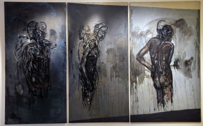 Piero Manai, I quadri nello studio, 1984-85 - Collezioni d'Arte e di Storia della Fondazione Cassa di Risparmio in Bologna - photo Paolo Righi, Meridiana Immagine