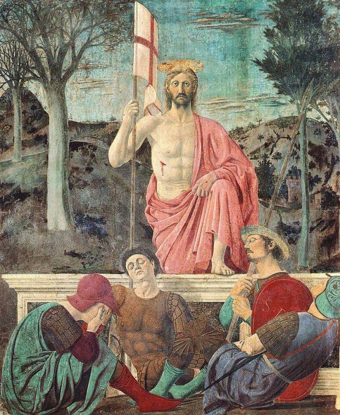Piero della Francesca, Resurrezione, 1450-63. Museo Civico di Sansepolcro