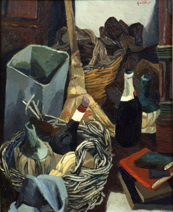 Renato Guttuso, Un angolo dello studio di via Pompeo Magno, 1941-42
