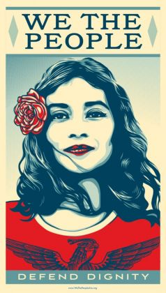 Shepard Fairey, We the People (courtesy Obey Giant)