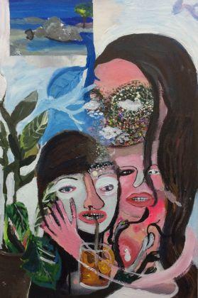 Silvia Argiolas, Madre e figlia, 2016, tecnica mista su tela, cm 59x40