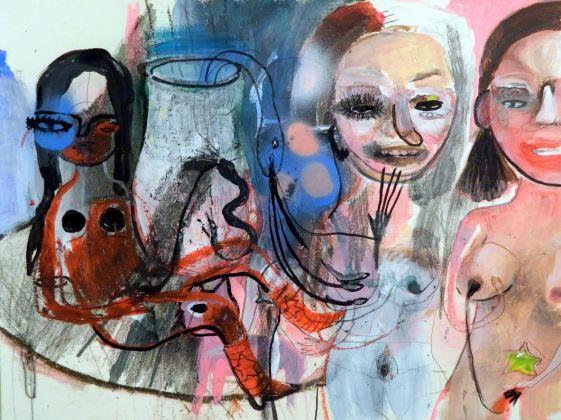 Silvia Argiolas, Senza titolo, 2016, tecnica mista su carta, cm 40x30