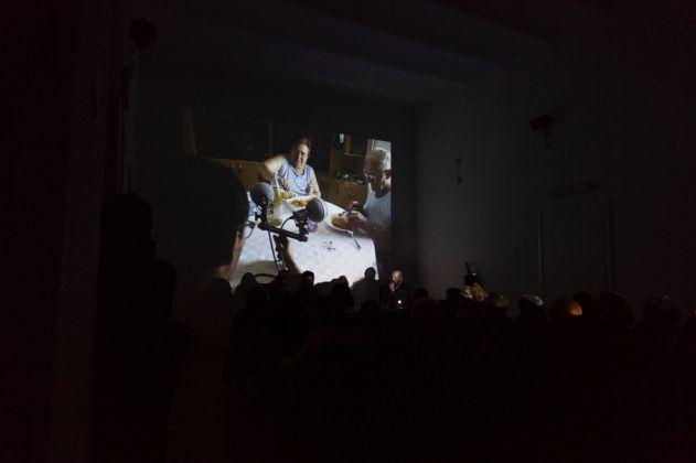 Talk at . Museolaboratorio, Città Sant'Angelo 2017. Photo Claudia Petraroli