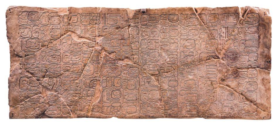 Tavola dei 96 glifi - Palenque, Chiapas, Periodo Classico tardo (600-900 d.C.) - INAH, Museo de Sitio de Palenque Alberto Ruz Lhuillier. Palenque, Chiapas