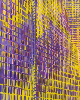 Titina Maselli, 1962-63, Notte a New York, olio su tela, 100x81 cm, courtesy Galleria Massimo Minini Brescia