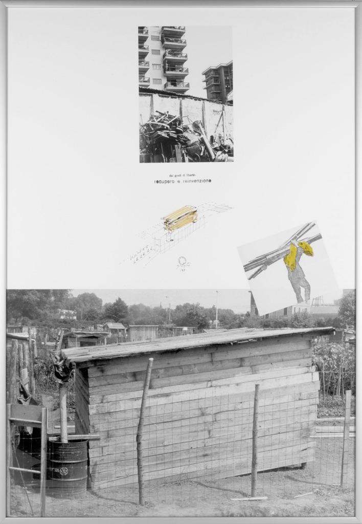 Ugo La Pietra, da I gradi di libertà, Recupero e reinvenzione Orti urbani, 1969. Courtesy Archivio Ugo La Pietra, Milano