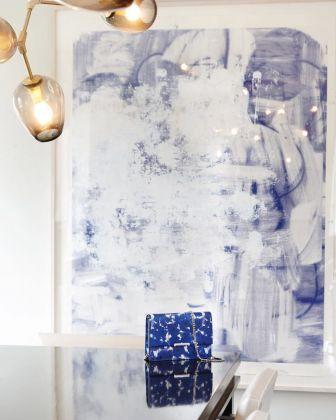 Un dipinto di Christopher Wool in casa di Ivanka Trump (courtesy Ivanka Trump via Instagram)