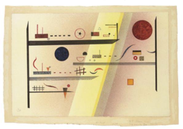 Vasily Kandinsky, Horizontale divisée, 1935 - Hermann und Margrit Rupf-Stiftung, Kunstmuseum Bern - © Vasily Kandinsky, VEGAP, Bilbao, 2016