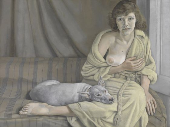 Lucian Freud (1922 - 2011) Girl with a White Dog 1950–1951 Oil on canvas 76.2 x 101.6 cm Tate Gallery, Londres © Tate, London 2017