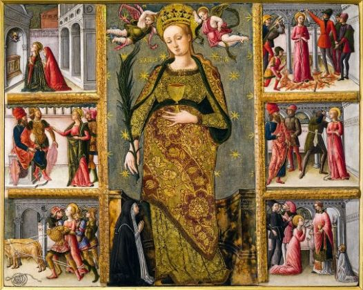Quirizio da Murano (Venezia, notizie dal 1462 al 1478) Santa Lucia e storie della sua vita 1462 Tempera su tavola, cm. 58,5x73,5 Rovigo, Pinacoteca dell'Accademia dei Concord