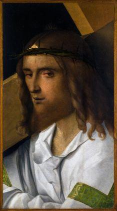 Giovanni Bellini (Venezia, 1430 circa-1516) Cristo portacroce 1510 Olio su tavola, cm. 48,5x27 Rovigo, Pinacoteca dell'Accademia dei Concordi