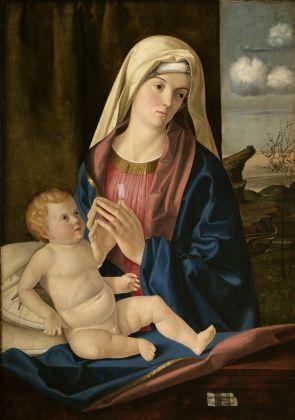 Nicolò Rondinelli (documentato a Venezia, Forlì e Ravenna tra il 1495 e il 1502) Madonna con il Bambino ultimo decennio del xv secolo Olio su tavola, cm. 83,5x59 Rovigo, Pinacoteca dell'Accademia dei Concordi