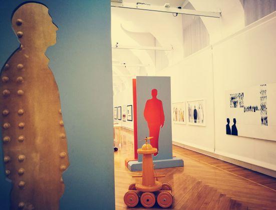 """Alcuni """"Séparé"""" dalla mostra di Renato Mambor negli spazi della Galleria Credito Valtellinese, Milano 2017"""
