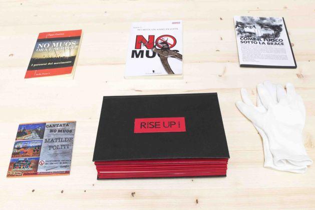 Artists Against MUOS, installation view at Laveronica arte contemporanea, 2017, ph. Francesco Di Giovanni