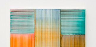 Bernard Frize, Feux et Lacs n°5, 2016, acrilico e resina su tela
