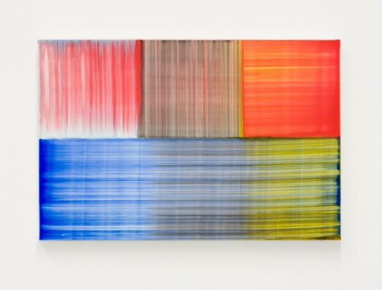 Bernard Frize, Feux et Lacs n°7, 2016, acrilico e resina su tela