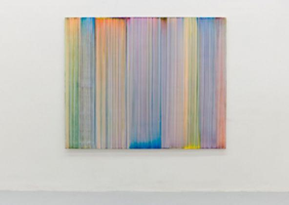 Bernard Frize, Kombo, 2016, acrilico e resina su tela