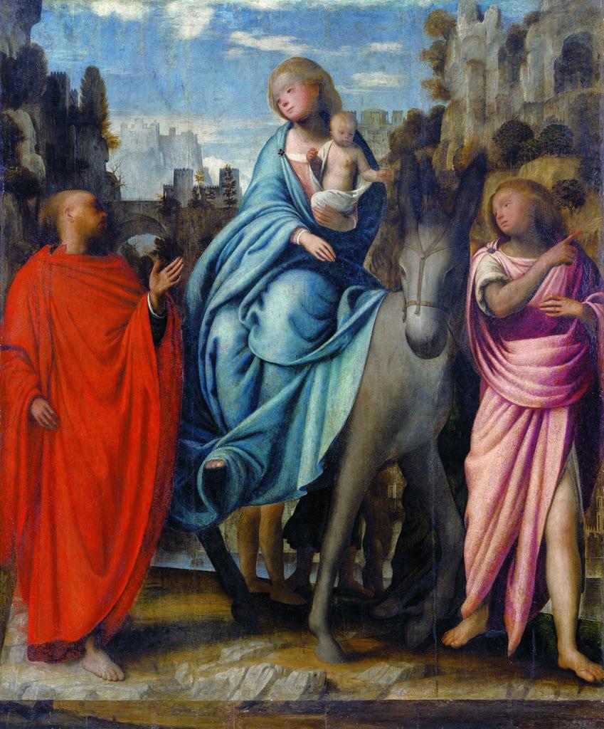 Bramantino, Fuga in Egitto, 1520 ca., Santuario della Madonna del Sasso, Orselina
