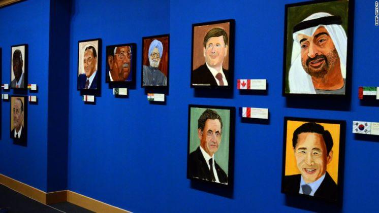Una precedente mostra di Bush a Dallas