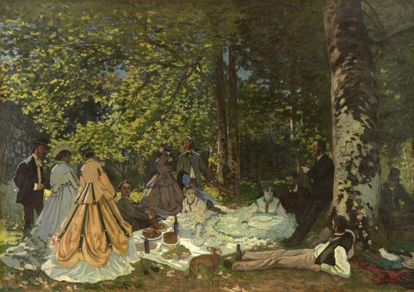 Claude Monet, Le Dejeuner sur l'herbe, 1866. Mosca, Museo di Stato delle Belle Arti