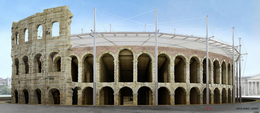 Copertura dell'Arena di Verona, il progetto di RTI capogruppo Roberto Gianfranco Maria Ventura (Codogno – Lodi)