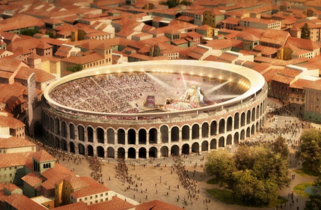 Copertura dell'Arena di Verona, il progetto vincitore di RTI SBP e GMP Stoccarda-Berlino (Germania)