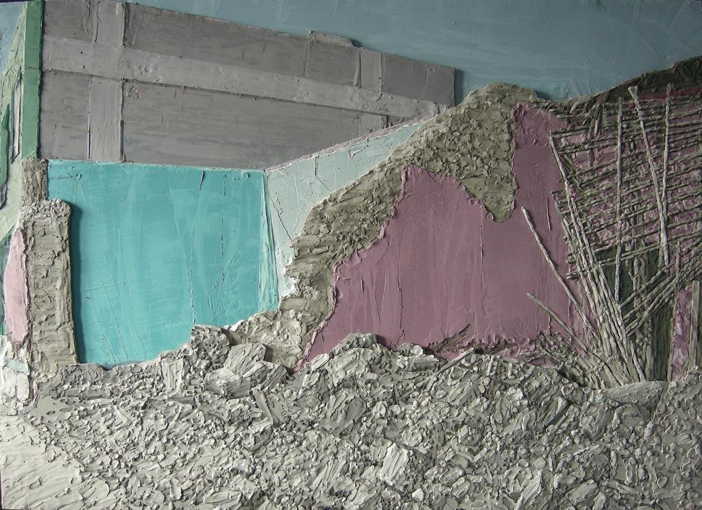 Cristiano De Gaetano, Collapse, 2008, cera pongo su strati di legno. Courtesy The Flat-Massimo Carasi, Milano. Photo Filippo Armellin