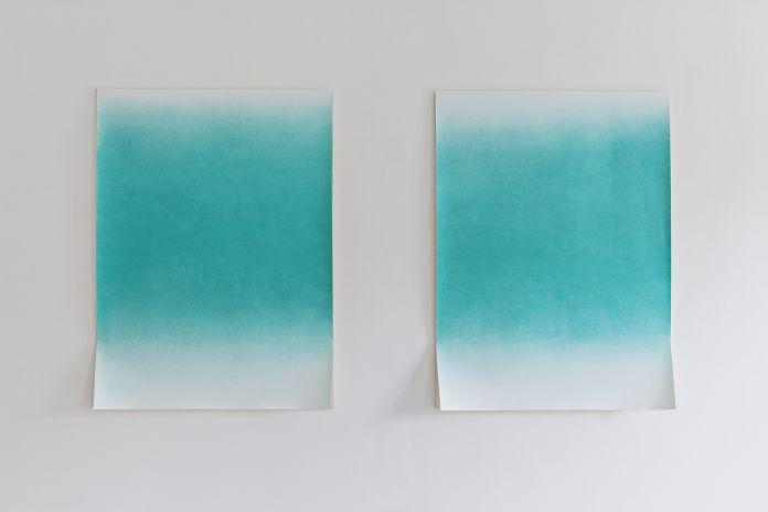 Davide Allieri, The Green Ray, 2017, disegno, pastello su carta. Courtesy RITA URSO Artopia Gallery. Foto Maxime Galati-Fourcade