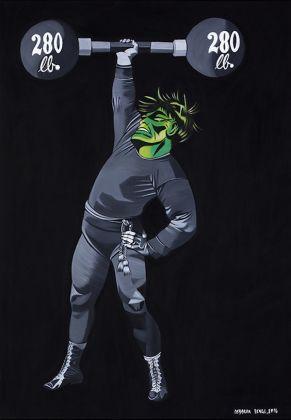 Deborah Sengl, dalla serie Superfreaks (Galerie Ernst Hilger), Courtesy Galerie Erns Hilger